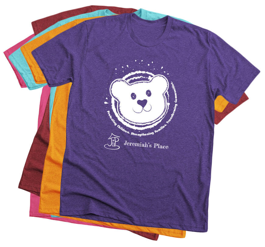 Support Pittsburgh's ONLY Crisis Nursery with this shirt with our signature JereBear from Bonfire!